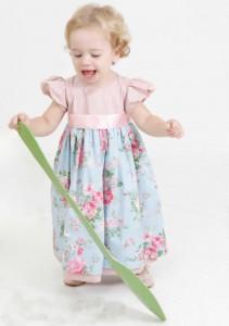vestido jardim encantado infantil para festa