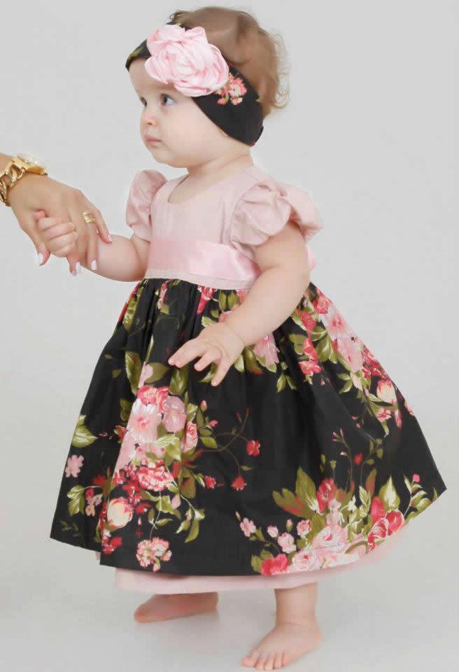 vestido infantil jardim encantado floral