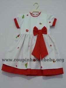 vestido infantil moranguinha baby