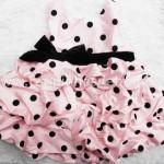 vestido infantil joaninha rosa