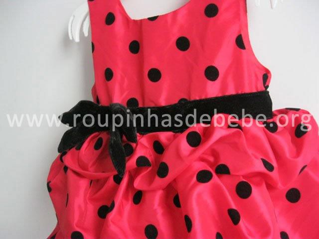 vestido joaninha infantil para festas