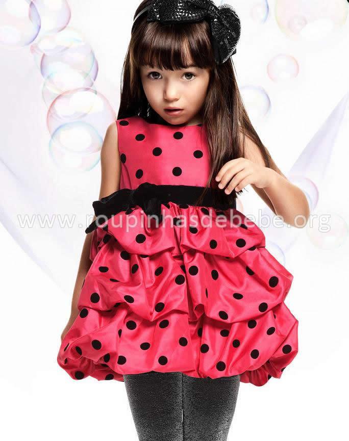 vestido joaninha infantil vermelho