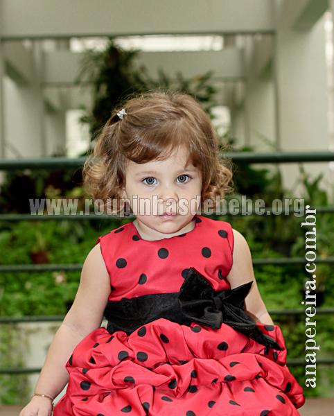 vestido joaninha infantil