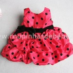 vestido joaninha para festas infantil