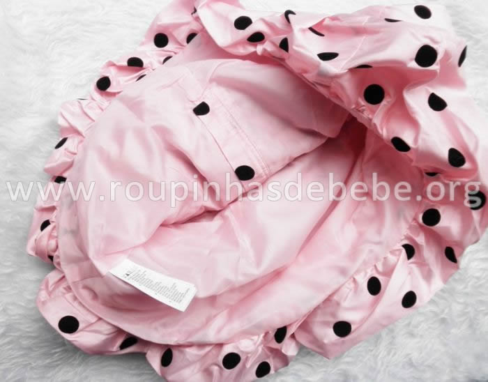 vestido joaninha rosa hm