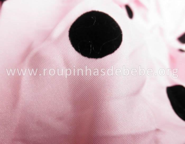 vestido joaninha rosa