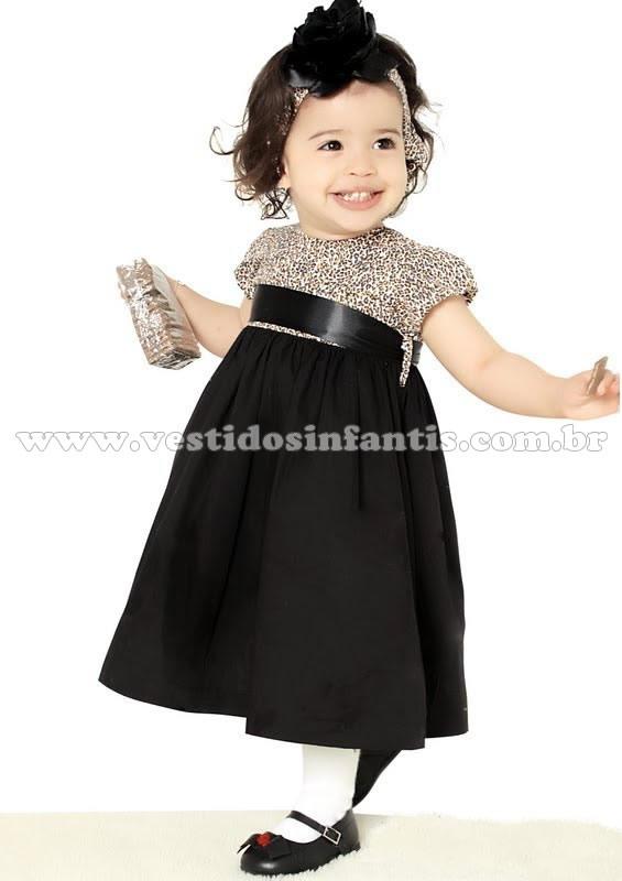 vestido infantil oncinha