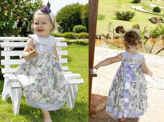 vestido floral para bebê