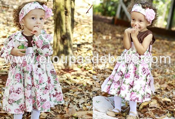 vestido floral lilas para meninas