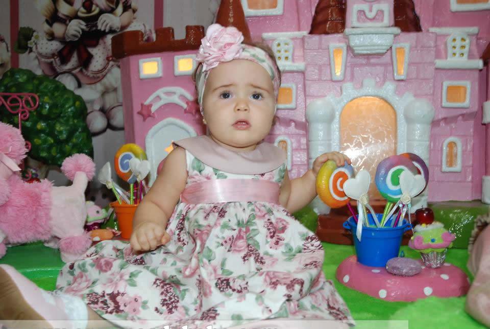 vestido floral rosa para bebe