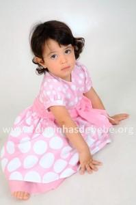 vestido minnie rosa