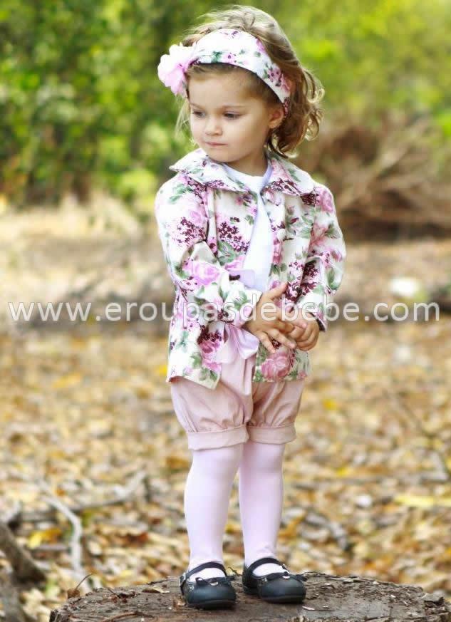 conjunto infantil floral