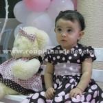 decoracao infantil marrom e rosa