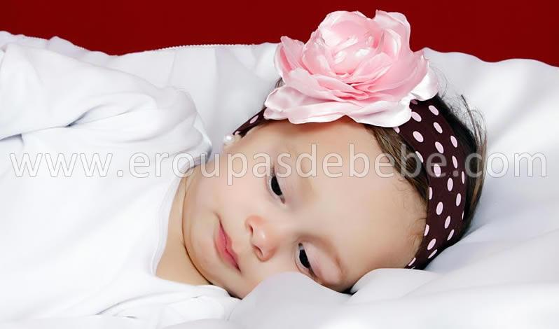 faixa de cabelo infantil rosa e marrom