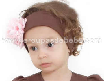 faixa de cabelo rosa com marrom