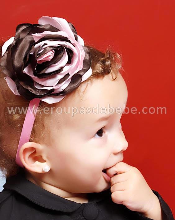 faixinha de cabelo rosa com marrom