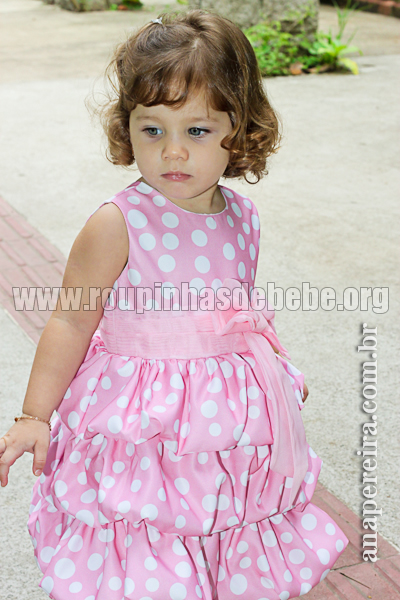 modelo vestido infantil para festa