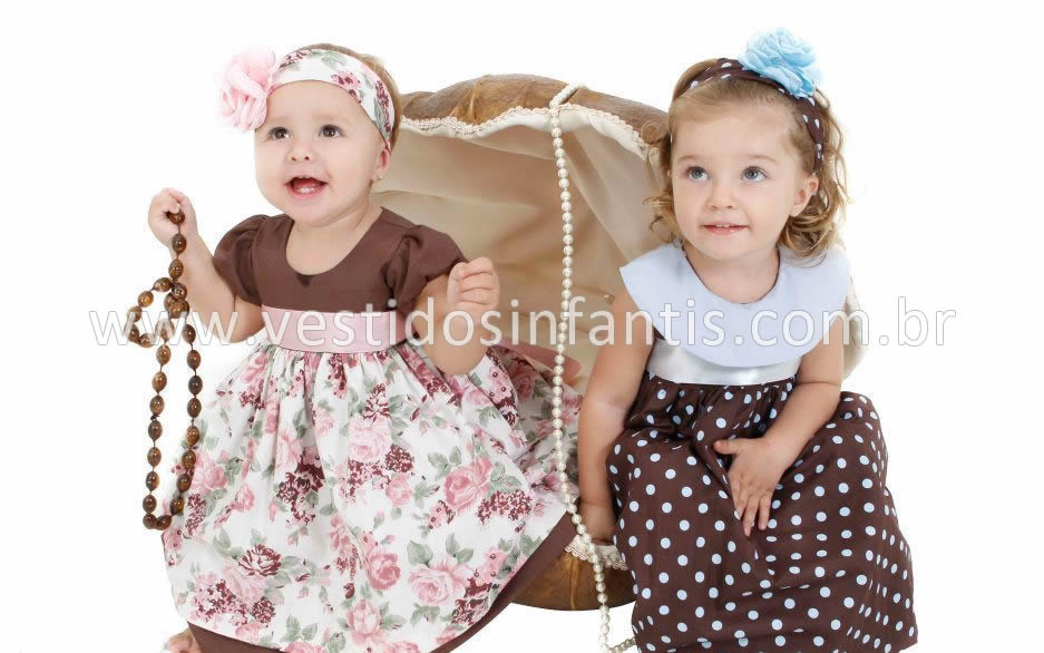 vestido infantil para meninas