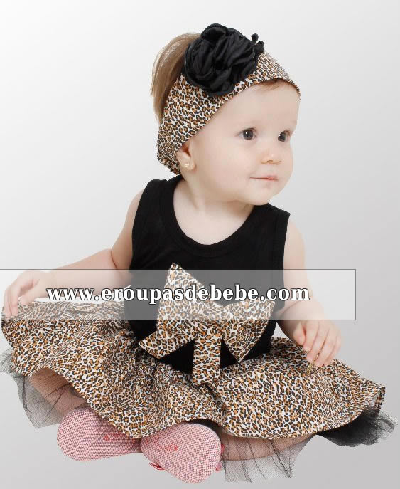 vestido infantil preto e oncinha
