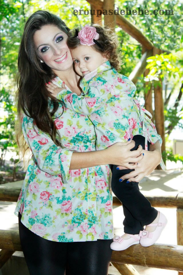 vestido mae e filha floral