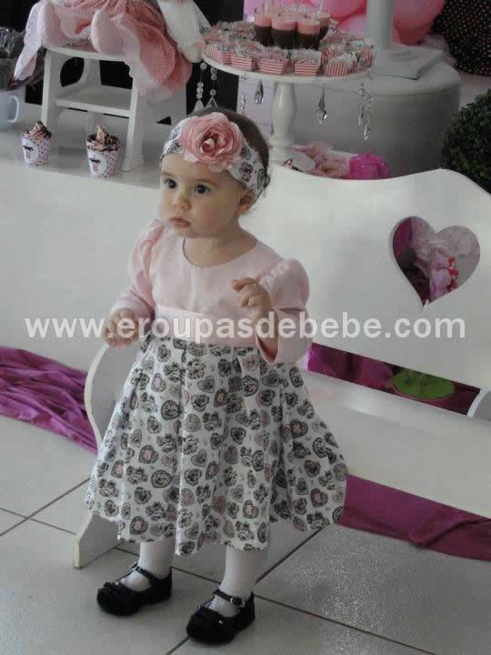 vestido para bebe de festa
