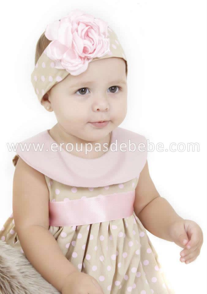 vestido rosa com bege infantil