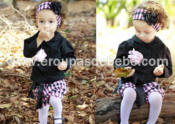 vestido xadrez infantil preto e rosa