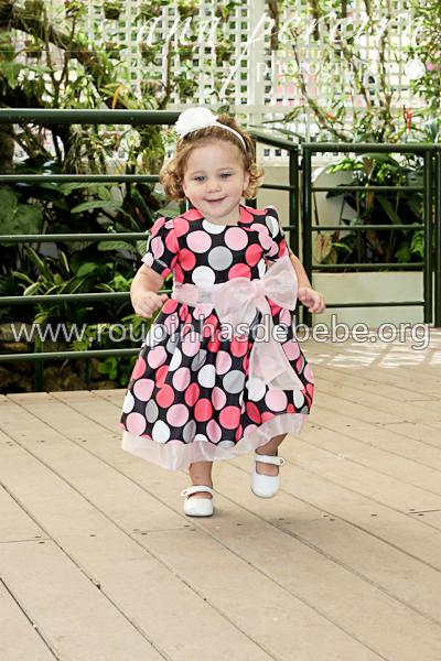 vestidos infantil de bolinha para festa