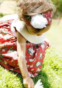vestidos infantis floral vermelho
