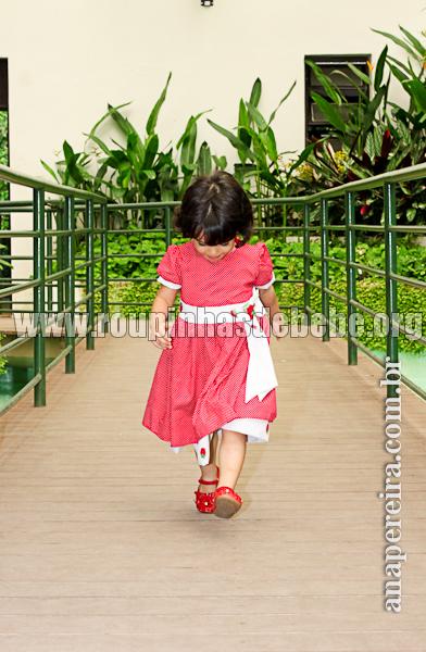 vestido infantil da moranguinho