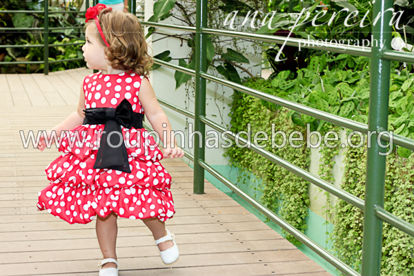 vestido infantil minnie baby para festa