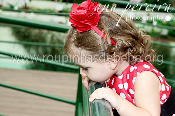 vestido infantil minnie vermelha