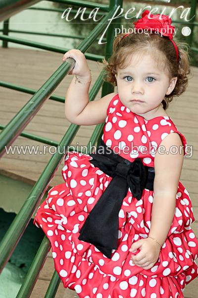 vestido infantil minnie