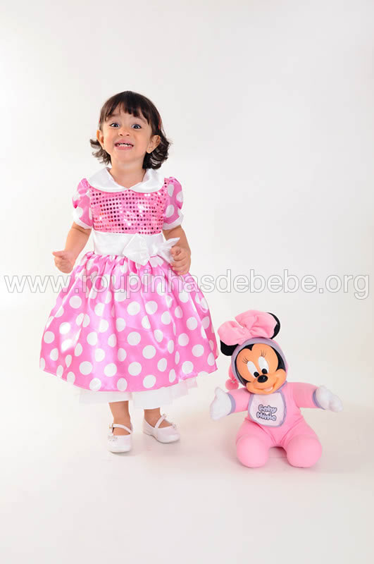 vestido minnie baby para festa