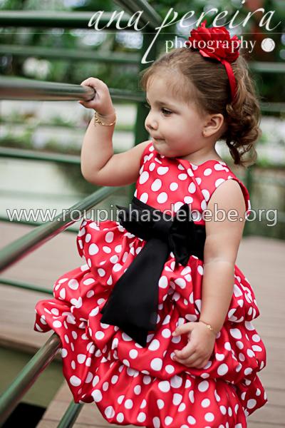 vestido minnie mouse infantil para festa