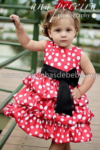 vestido minnie vermelho com bolinhas