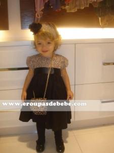 vestido de bebê xadrez