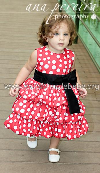 vestido para festa infantil minnie baby