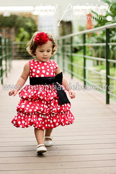 vestido para meninas minnie mouse