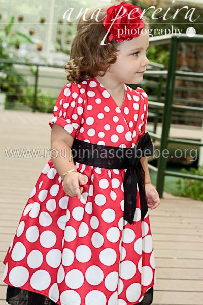 vestidos de festa minnie mouse infantil