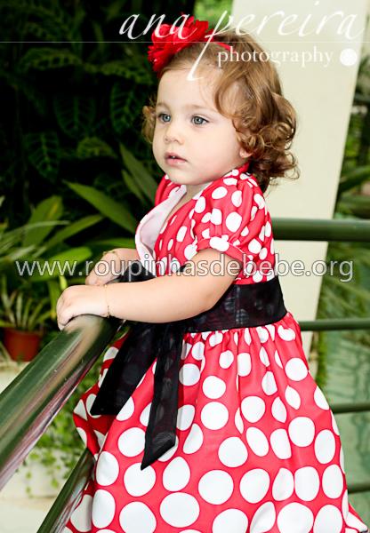 vestidos infantil de festa tema minnie baby