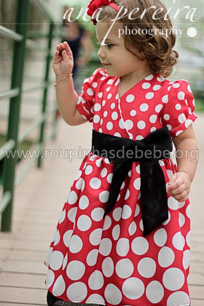 vestidos infantil tema minnie