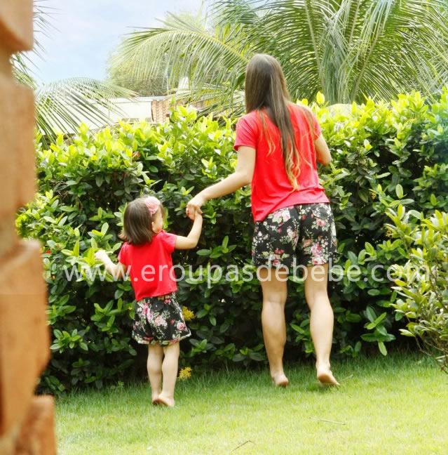 blusa infantil vermelha feminina