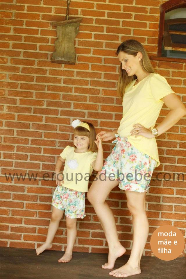 conjunto amarelo feminino