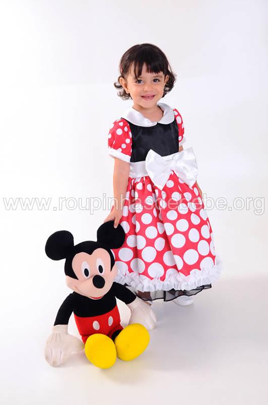 vestido minnie infantil para festa