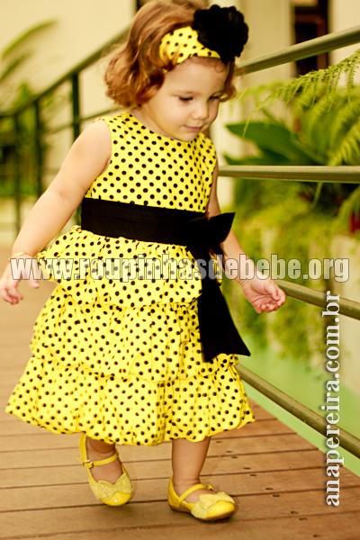 vestido de festa infantil da abelhinha