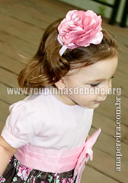 vestidos infantil de festa floral