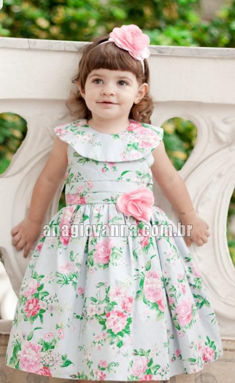 vestidinho floral para bebe