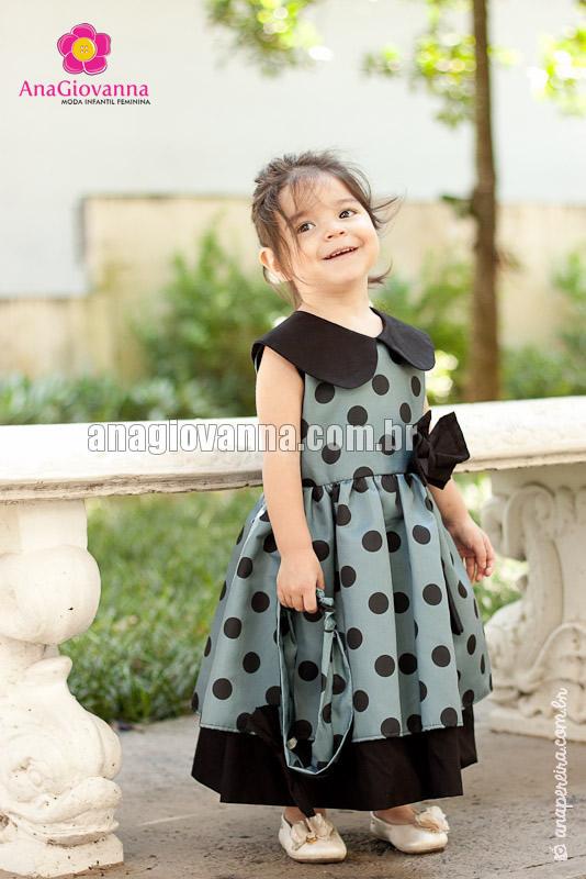 vestido cinza infantil
