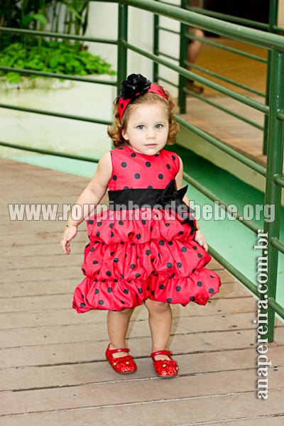 vestido de festa infantil balone